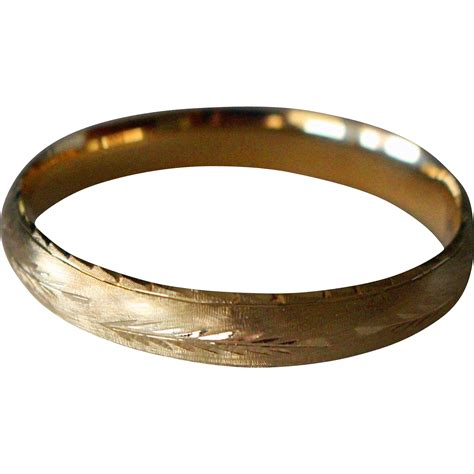 gold bracelet 14k vintage 14k gold bangle bracelet expandable from