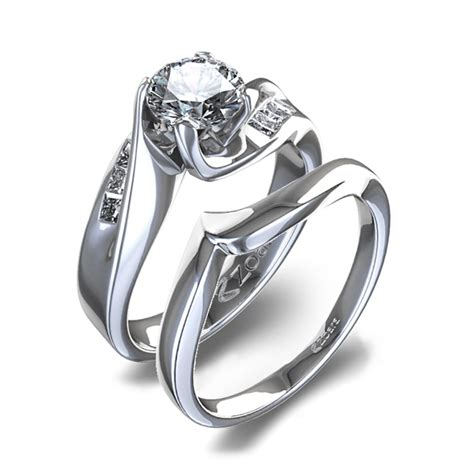 contemporary wedding rings for women simple and modern elasdress