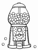 Gumball Machine Coloring Gum Bubble Pages Printable Template Coloringcafe Food Pdf Drawing Sheets Worksheet Sheet Print Sketch Preschoolers Colouring Templates sketch template