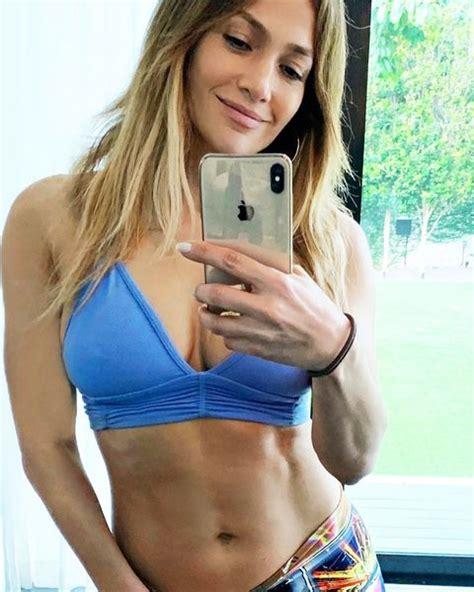 jennifer lopez shares abs photo  days  diet challenge