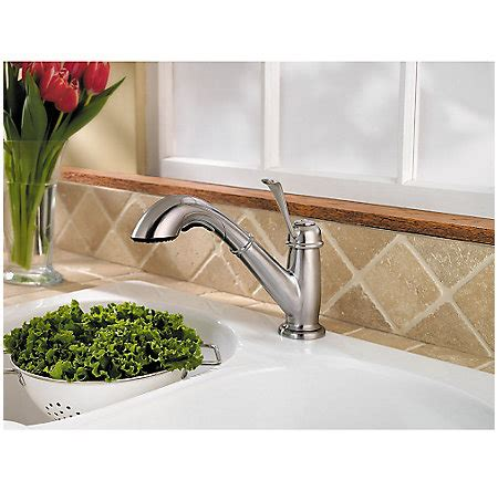 stainless steel bixby 1 handle pull out kitchen faucet