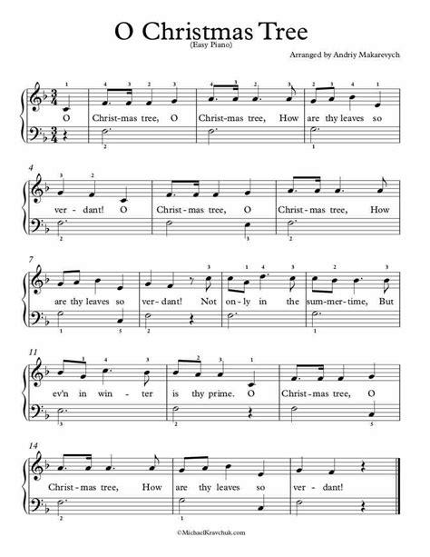 Clarinet sheet music for christmas carols and hymns. Free Piano Arrangement Sheet Music - O Christmas Tree - Michael Kravchuk