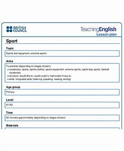 40 lesson plan samples free premium templates With british council lesson plan template