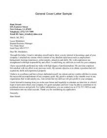 What Is The Format Of Resume by General Cover Letters Exles The Best Letter Sle