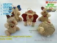 Piring Kayu Bentuk Hewan souvenir krincingan hewan souvenir pernikahan