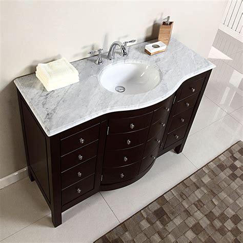 bathroom vanity ideas 48 quot single sink white marble top bathroom vanity cabinet