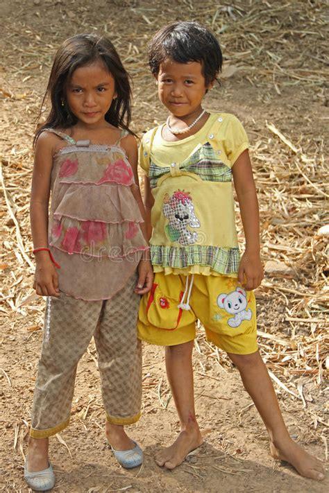 girls  cambodia editorial stock photo image