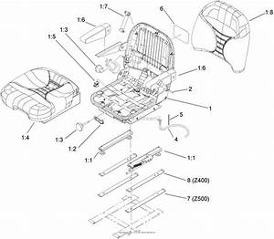 Toro Professional 78530  Deluxe Suspension Seat Kit  Z400