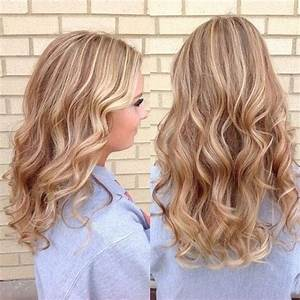 Golden blonde with strawberry lowlights and platinum ...