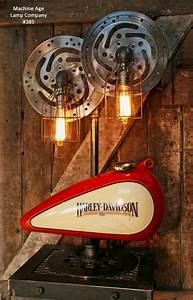 Steampunk Industrial Lamp, Harley Davidson Motorcycle Gas