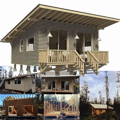 Cabin Plans Weekend Cottage Floor Building Beach