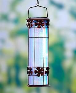 D solar prism flower lantern hanging outdoor garden home