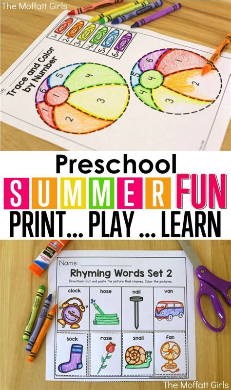 157 best summer learning images on toddler 482 | fffe490a35852c77ebc0d680509b31d2 preschool summer review summer school ideas for kindergarten