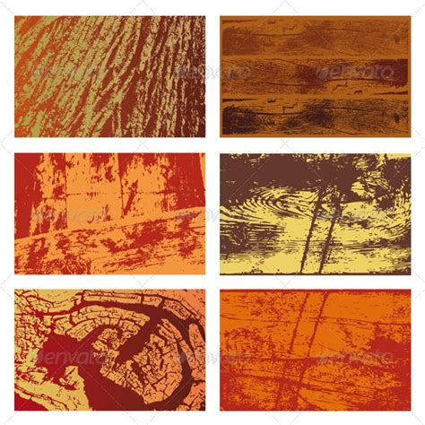 Set of vector background textures of different types of