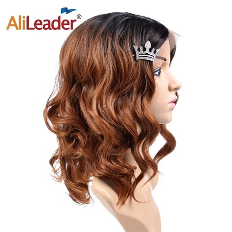 Alileader Synthetic Lace Front Wig Glueless Ombre Wig