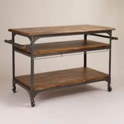 wood kitchen island cart wood and metal jackson kitchen cart world market