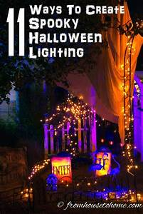 Halloween, Outdoor, Lighting, Ideas, 18, Spooky, Ways, To, Light, Your, Yard, With, Images