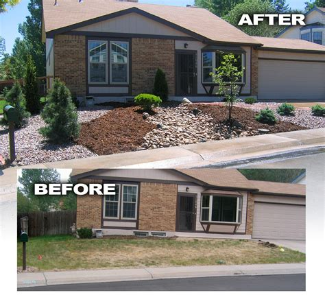 before and after landscaping pictures before and after photos glacier view landscape and design inc