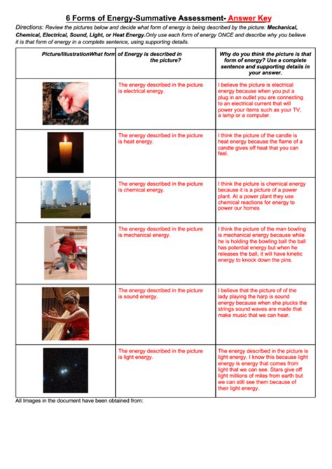 forms of energy pdf forms of energy summative assessment answer key printable
