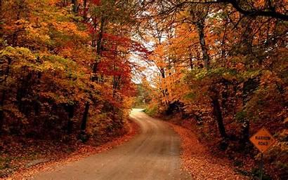 Fall Desktop Computer Autumn Wallpapers Road Wallpapersafari