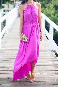 calypso st barth pink maxi dress and michael kors gold heels With shoes to wear with maxi dress for wedding