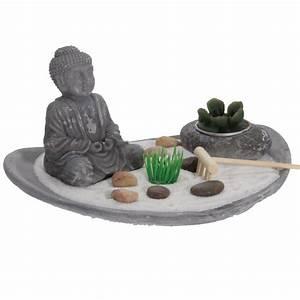 Plateau Pour Bougie : jardin zen plateau bouddha avec bougie ~ Teatrodelosmanantiales.com Idées de Décoration