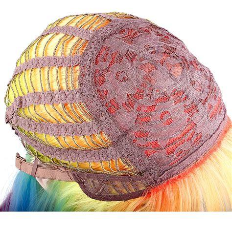 Alileader Heat Resistant Synthetic Hair Straight Rainbow