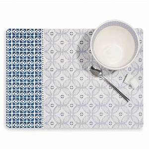 Set De Table Carreau De Ciment : set de table en li ge motifs carreaux de ciment escale maisons du monde ~ Teatrodelosmanantiales.com Idées de Décoration