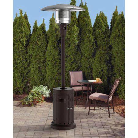 mainstays patio heater mainstays large patio heater powder coat brown walmart