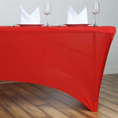 ft rectangular spandex table cover red tablecloths