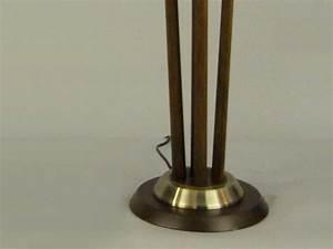 Pecan floor lamp nl178 floor table for Floor lamp dublin