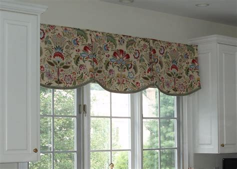 kitchen curtains and valances ideas valances kitchen scalloped valance by sue sson a