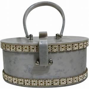 Sac À Main Transparent : wilardy pearlized silver grey vintage lucite purse handbag ~ Melissatoandfro.com Idées de Décoration