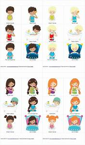 Child Personal Hygiene Chart Personal Hygiene And Bedtime Routine Chart And Cards For