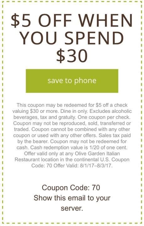 olive garden cupons restaurant coupons 2017 printable code autos post