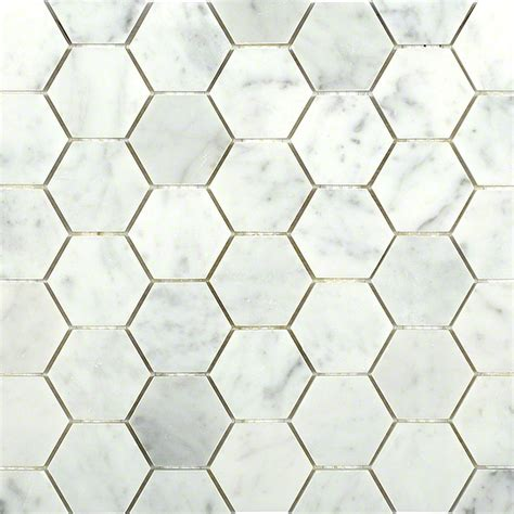 carrara hexagon marble mosaic tiles tilebar