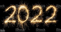 Sparkling Golden New Year 2022 Stock Photo - Download ...