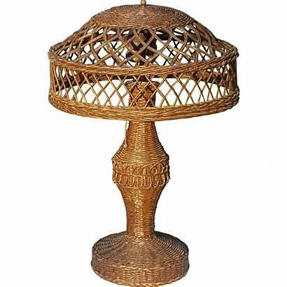 Wicker Table Lamp Natural 1920 Circa Lane