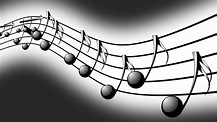 Animated background with musical notes, Music notes flowing, flying stream of Music Notes Motion ...
