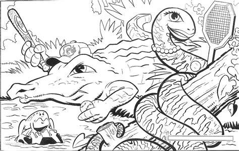 Kleurplaat Roofdieren by Kleurplaat Krokodil