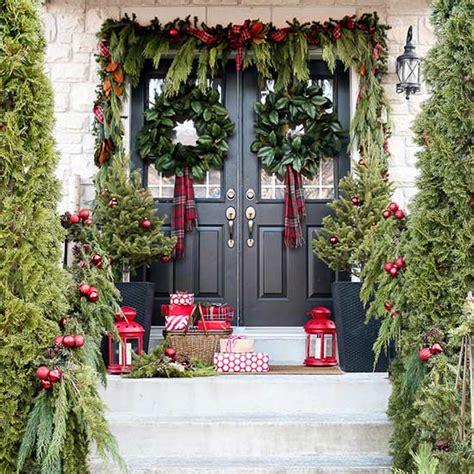 farmhouse inspired christmas porches