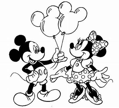Mickey Minnie Mouse Coloring Kid Pages Printable