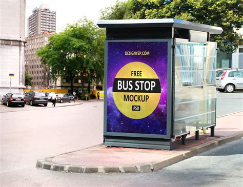 bus stop poster psd template 20 free roadside poster mockup psd templates designyep