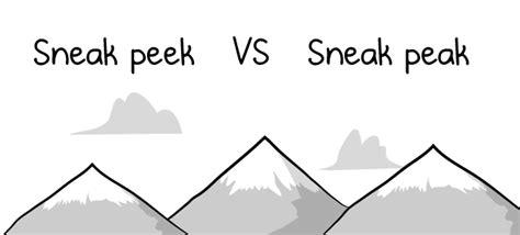Sneak Peek Vs Sneak Peak  The Oatmeal