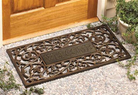 custom size welcome mats wooden outdoor welcome mats offer many benefits to