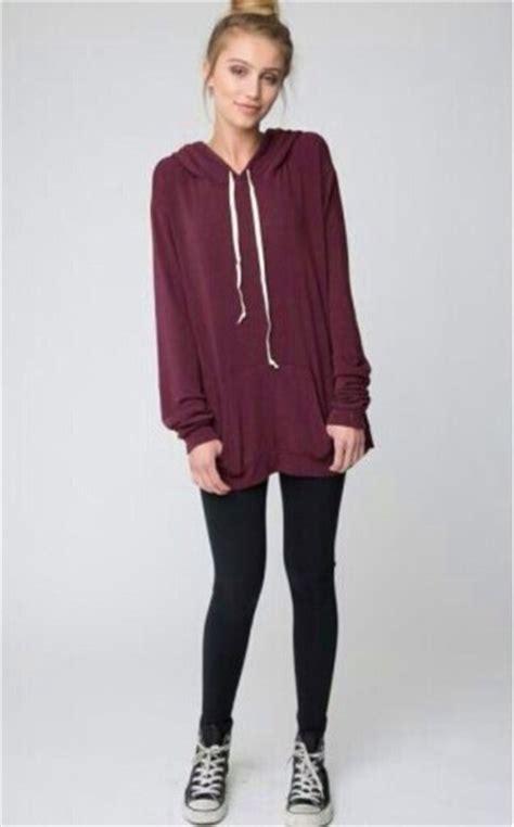 Jacket burgundy hoodie leggings - Wheretoget
