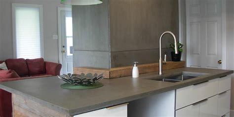 comptoirs en béton pour cuisine ou salle de bain