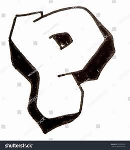 Letter P Hand Drawn Alphabet Graffiti Stock Illustration ...