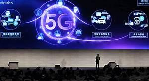 A Representative Of Qualcomm Inc Explains 5g Technology To