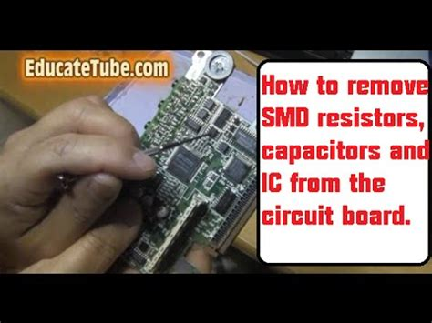 How Remove Smd Resistors Capacitors From